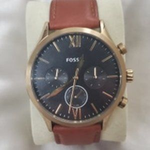 Fossil Fenmore Multi-function Brown Leather Watch